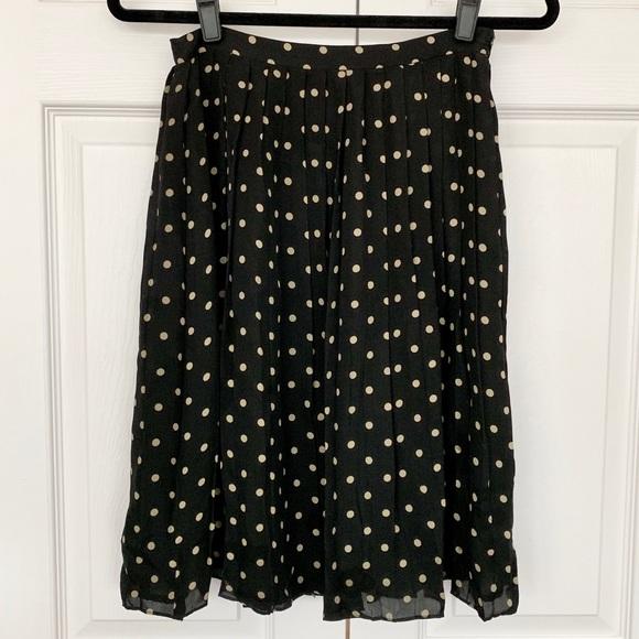 Kate Hill Dresses & Skirts - Kate Hill Petites 100% Silk Pleated Skirt